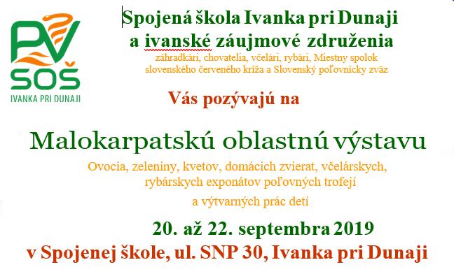 Pozvánka: Malokarpatská oblastná výstava