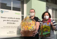 Darčekový kôš poteší aj zariadenie Integra v Bratislave.