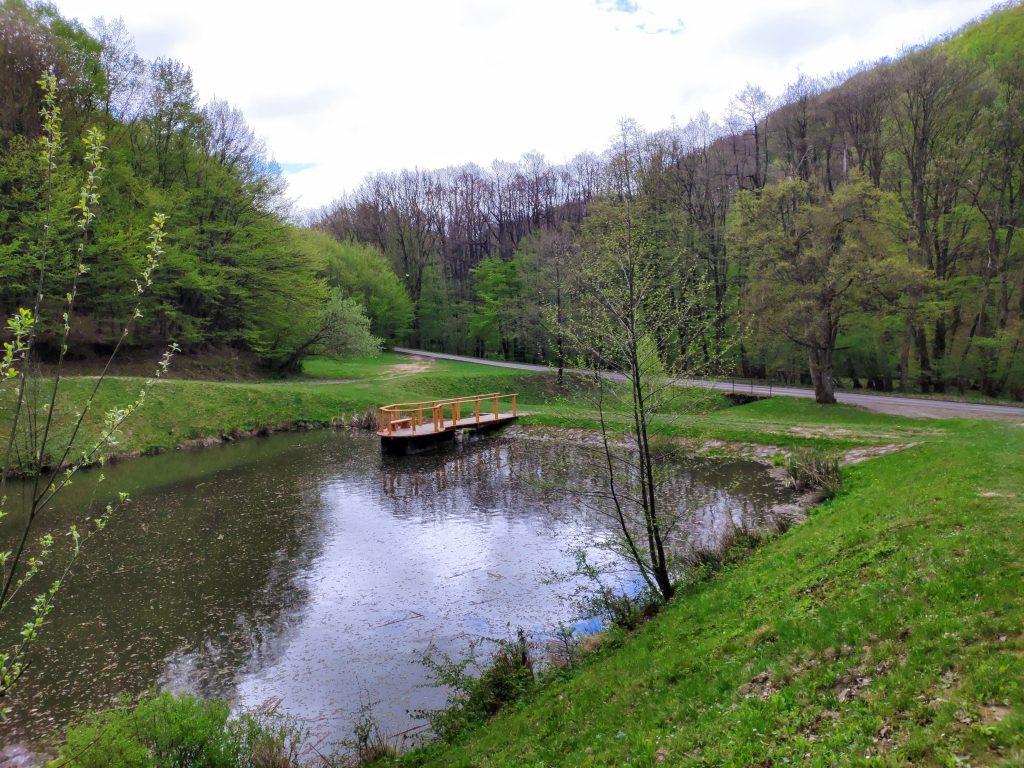 Siedmy rybník s novou lávkou