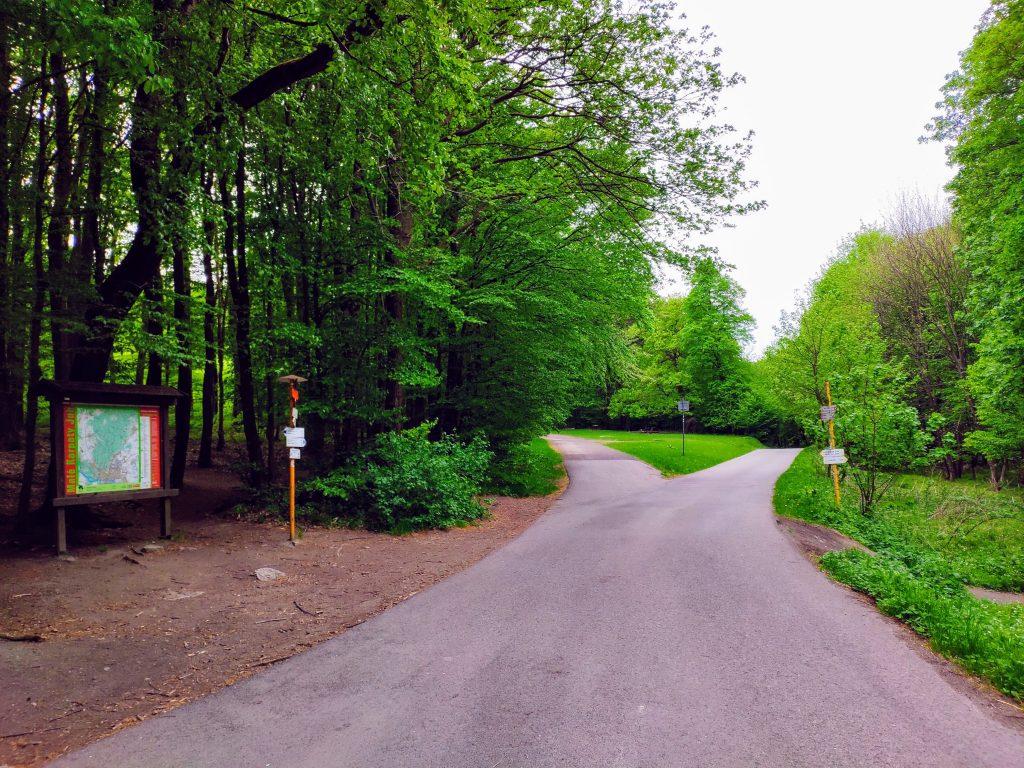 Pekná cesta - Spariská, križovatka trás na hlavnom hrebeni